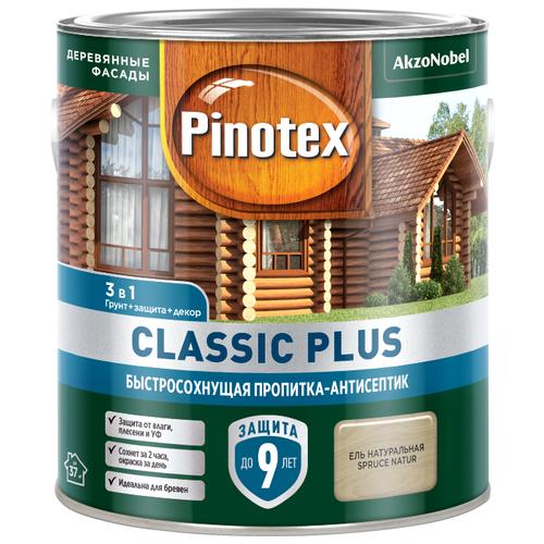 Водозащитная пропитка Pinotex Classic Plus ель натуральная 2.5 л