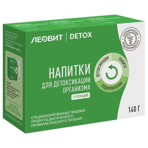 Леовит Detox Специализированные напитки для детоксикации организма (Кисели). 7 пакетов по 20 г. Упаковка 140 г.