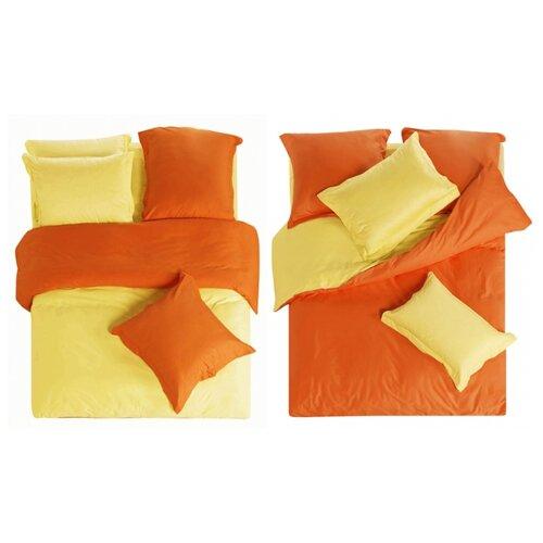цена Постельное белье 2-спальное СайлиД L-2, сатин желтый/коричневый онлайн в 2017 году