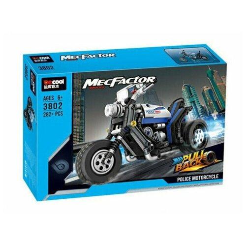 Купить Конструктор Jisi bricks (Decool) MecFactor 3802 Полицейский мотоцикл, Конструкторы