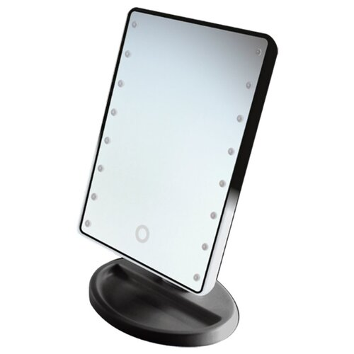 Зеркало косметическое настольное GESS uLike Mini с подсветкой черный