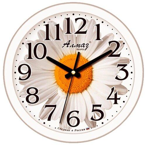 Часы настенные кварцевые Алмаз E37 белый