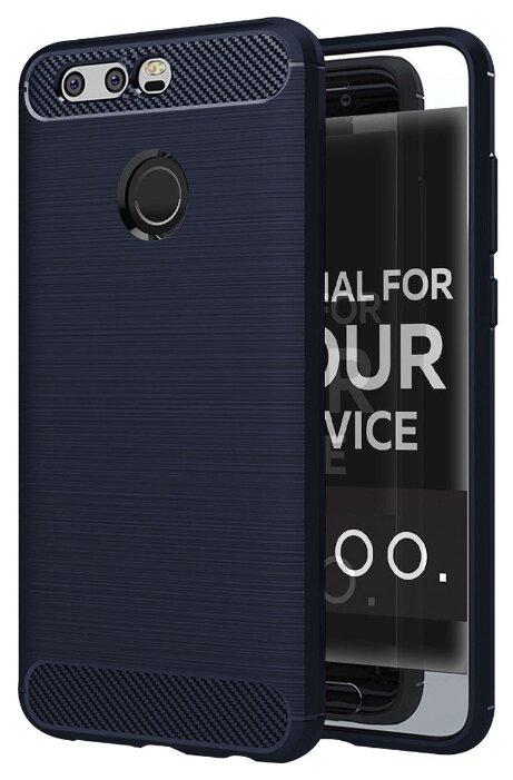 Купить Чехол для телефона. Huawei Honor 9. Силиконовый. Carbon Design. Синий. по низкой цене с доставкой из Яндекс.Маркета