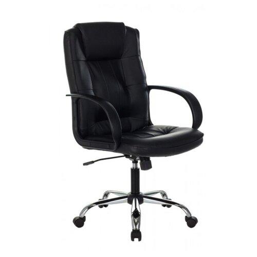 Компьютерное кресло Бюрократ T-800N для руководителя, обивка: натуральная кожа, цвет: черный