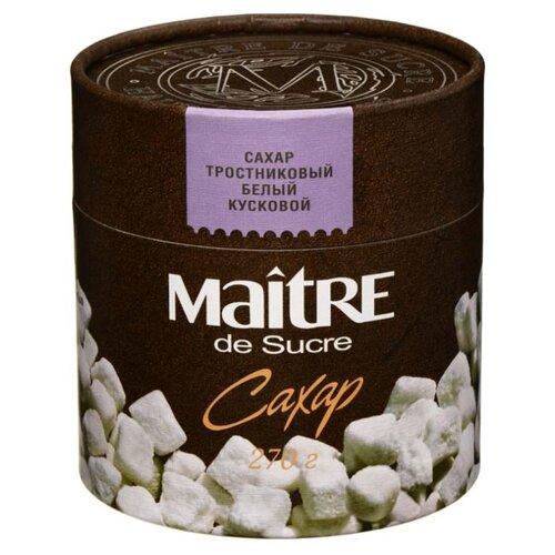 Сахар Maitre тростниковый кусковой, картонная упаковка 0.27 кг