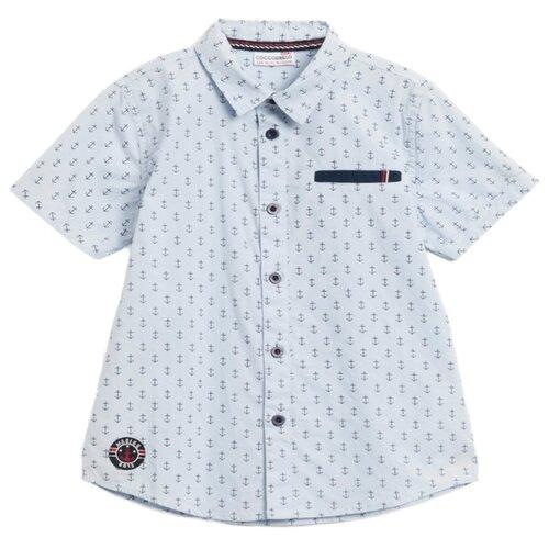 Рубашка COCCODRILLO размер 104, голубой пижама coccodrillo размер 104 голубой синий