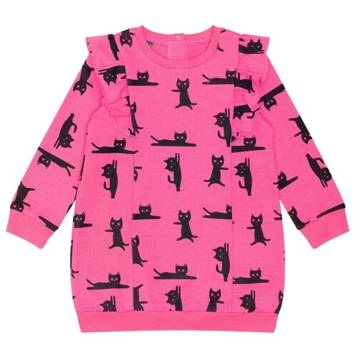 Купить Платье crockid размер 74, ярко-розовый/мультгерой, Платья и юбки