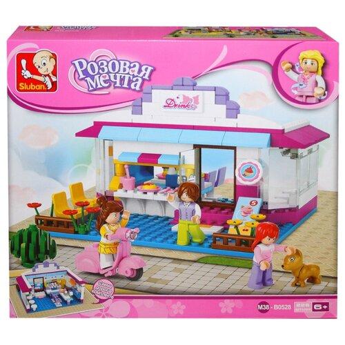 Купить Конструктор SLUBAN Розовая мечта M38-B0528 Кафе, Конструкторы