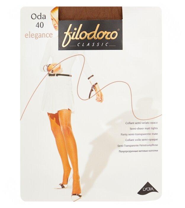 Купить Колготки Filodoro Classic Oda Elegance 40 den, размер 5-XL, abbronzante (коричневый) по низкой цене с доставкой из Яндекс.Маркета (бывший Беру)