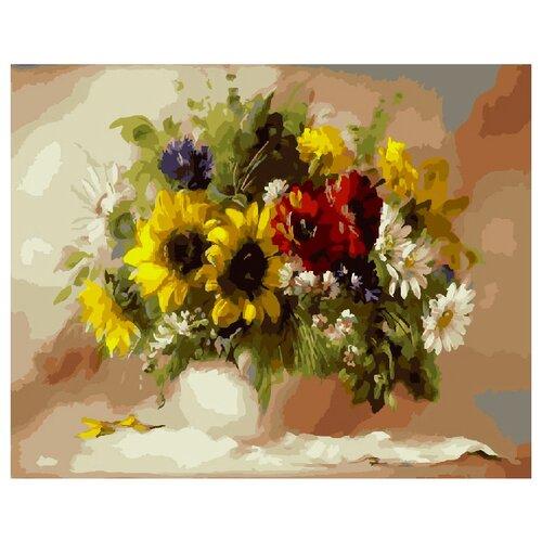 Купить ВанГогВоМне Картина по номерам Янтарные цветы , 40х50 (ZX 20944), Картины по номерам и контурам