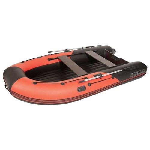 Надувная лодка Лоцман М-380 НД НД красно-черный лодка надувная sibriver агул 255 нд