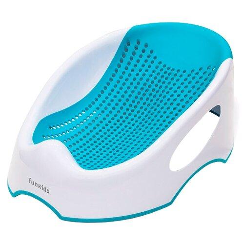 Купить Горка для купания Funkids Baby Bather Smart голубой, Сиденья, подставки, горки