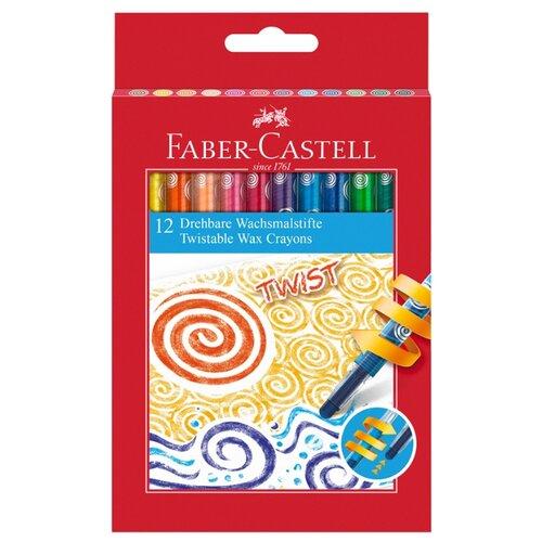 Купить Faber-Castell Восковые мелки Twist, 12 шт, Пастель и мелки
