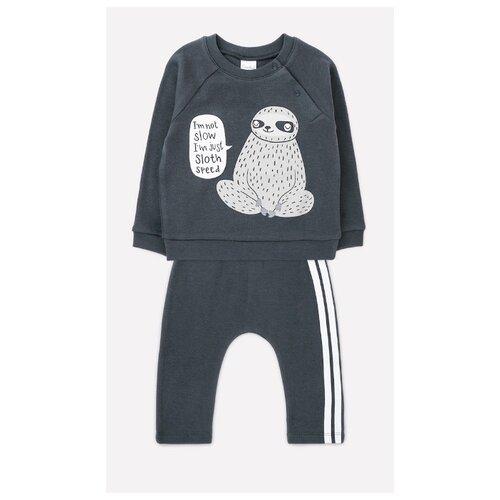 Комплект одежды crockid размер 80, темно-серый фото