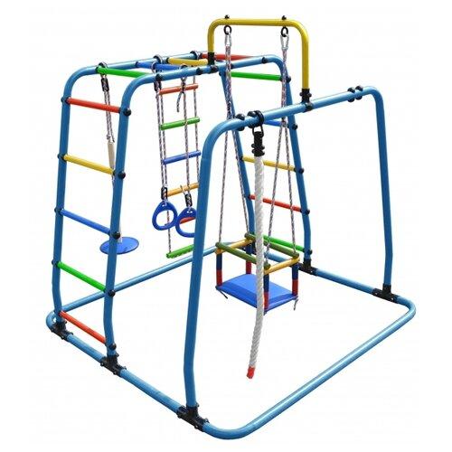 Купить Спортивно-игровой комплекс Формула здоровья Игрунок-Т Плюс голубой/радуга, Игровые и спортивные комплексы и горки