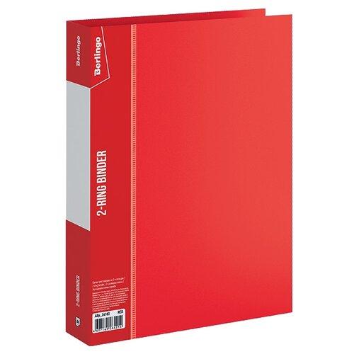 Купить Berlingo Папка на 2-х кольцах Standard A4, пластик, 40 мм красный, Файлы и папки