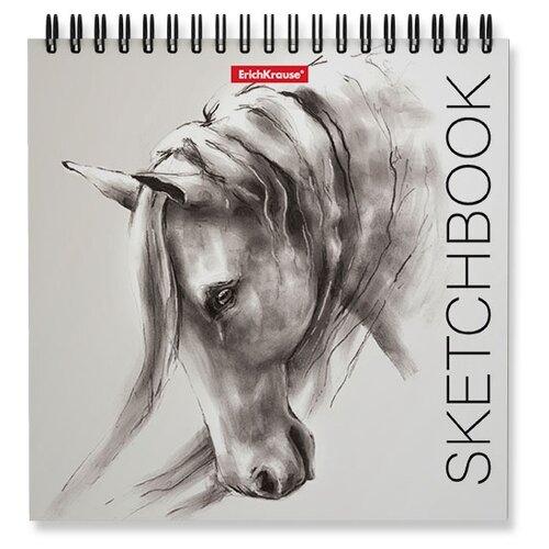 Купить Набор скетчбуков для эскизов ErichKrause Wild Horse 17 х 17 см, 120 г/м², 40 л. (4шт.), Альбомы для рисования