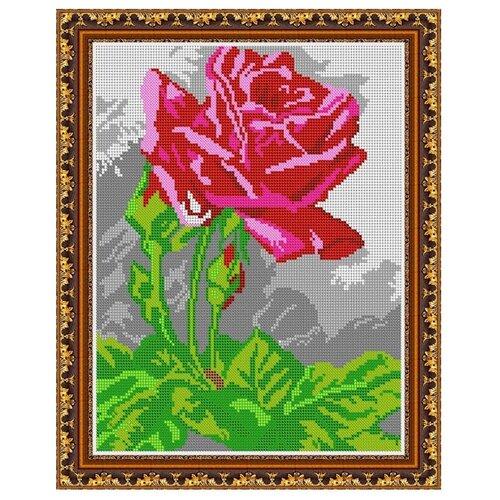 Светлица Набор для вышивания бисером Роза 24 х 30 см, бисер Чехия (263П)