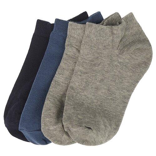 Носки Oldos комплект из 4 пар, размер 23-25, серый/джинс/темно-синий