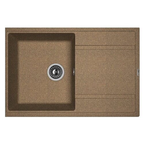 Врезная кухонная мойка 78 см FLORENTINA Липси-780 FG 20.270.C0780.105 коричневый