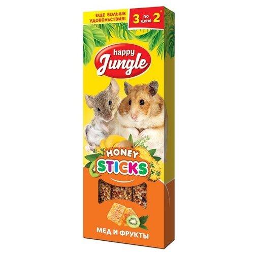 Лакомство для грызунов Happy Jungle Honey sticks Мед и фруктыЛакомства для грызунов<br>