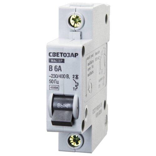 Автоматический выключатель СВЕТОЗАР 1P (B) 4,5kA 6 А