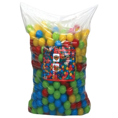 Шарики для сухих бассейнов King Kids 500 штук, 9 см (KK_BL1100-90-500) зеленый/желтый/красный/синий