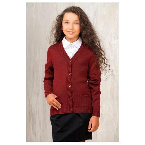 Жакет VAY размер 122, бордовый