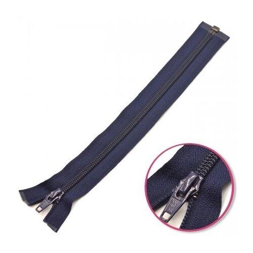 YKK Молния витая разъёмная 0004706/75, 75 см, темно-синий/темно-синий prisma коврик magicstop темно синий 30х150 см