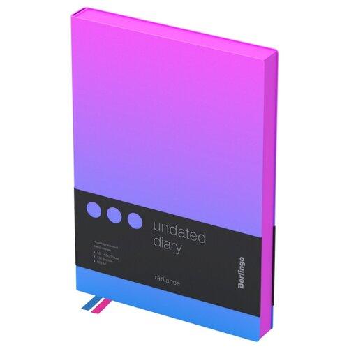 Купить Ежедневник Berlingo Radiance недатированный, искусственная кожа, А5, 136 листов, розовый/голубой, Ежедневники, записные книжки
