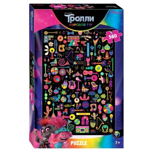 Фото - Пазл Step puzzle DreamWorks Trolls - 2 (97078), 560 дет. пазл step puzzle dreamworks trolls 94056 160 дет