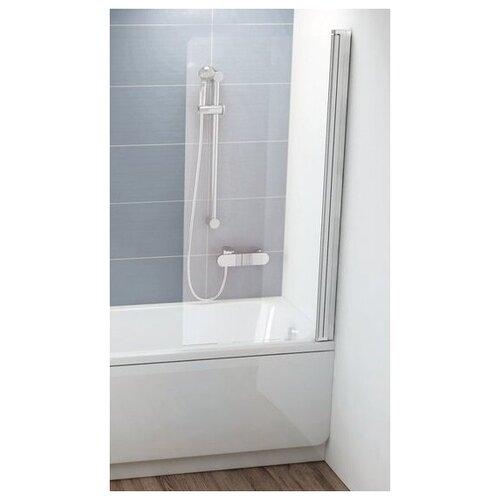 Фото - Шторка для ванны одноэлементная, поворотная Ravak CVS1 80 правая, белый профиль, прозрачное стекло 7QR40100Z1 шторка для ванны ravak chrome cvs1 80 l блестящая стекло transparent