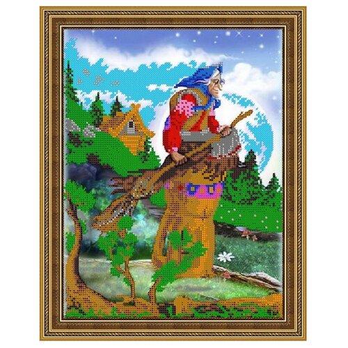 Светлица Набор для вышивания бисером Бабуся Ягуся 30 х 24 см (385)