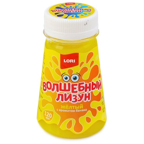 Купить Лизун LORI В конусе с ароматом банана Лз-009 желтый, Игрушки-антистресс