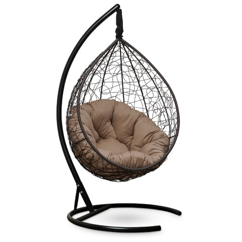 Подвесное кресло-кокон Laura Outdoor Sevilla Verde, коричневый/бежевый
