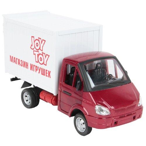 Купить Грузовик Play Smart Грузовой фургон Магазин игрушек (9077-F) 1:27 20 см белый/красный, Машинки и техника