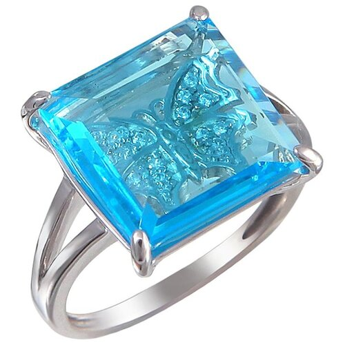 Эстет Кольцо с алпанитом и фианитами из серебра С16К253276, размер 17 эстет кольцо с алпанитом и фианитами из серебра с позолотой с16к253275п размер 17