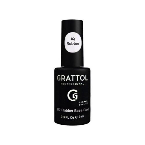 Grattol базовое покрытие IQ Rubber Base Gel 9 мл прозрачный orly базовое покрытие gel fx basecoat 18 мл прозрачный