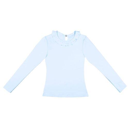 Купить Блузка Снег размер 122-128, голубой, Рубашки и блузы