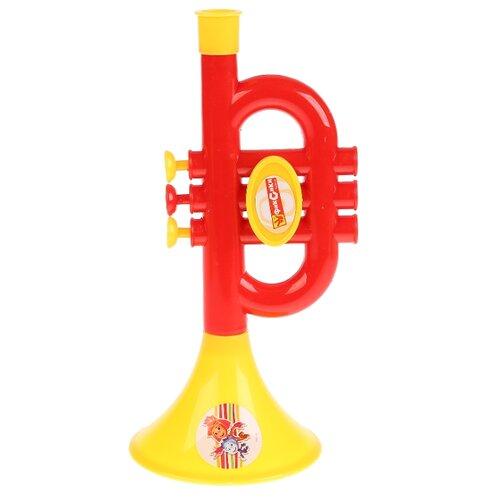 Купить Играем вместе труба Фиксики B782628-R1 красный/желтый, Детские музыкальные инструменты