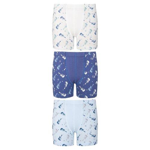 Купить Трусы BAYKAR 3 шт., размер 158/164, голубой/синий/белый, Белье и пляжная мода