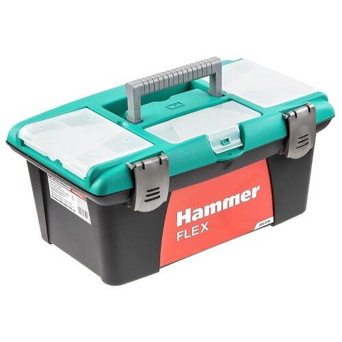 цена на Ящик с органайзером Hammer Flex 235-018 40x25x18 см 16'' черный/зеленый