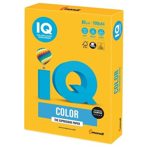 Фото - Бумага IQ Color А4 80 г/м² 100 лист. солнечно-желтый SY40 1 шт. бумага iq color а4 color 120 г м2 250 лист кораллово красный co44 1 шт