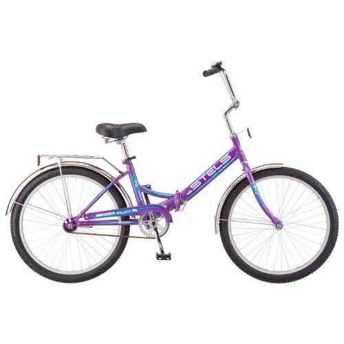Городской велосипед STELS Pilot 710 24 Z010 (2019) фиолетовый/голубой 16