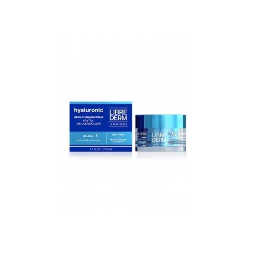 Фото - Librederm Hyaluronic Ultra Moisturizing Night Cream for Dry Skin Гиалуроновый крем для лица ультраувлажняющий ночной для сухой кожи, 50 мл ночной крем для лица librederm гиалуроновый 3d филлер 30 мл