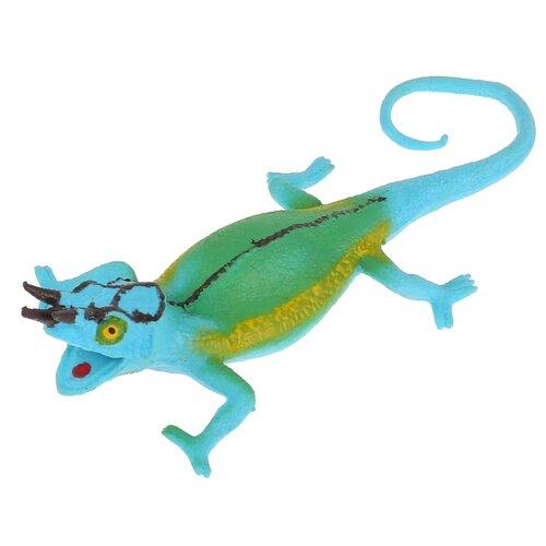 Игрушка-мялка Играем вместе Трехрогий хамелеон W6328-116Y голубой