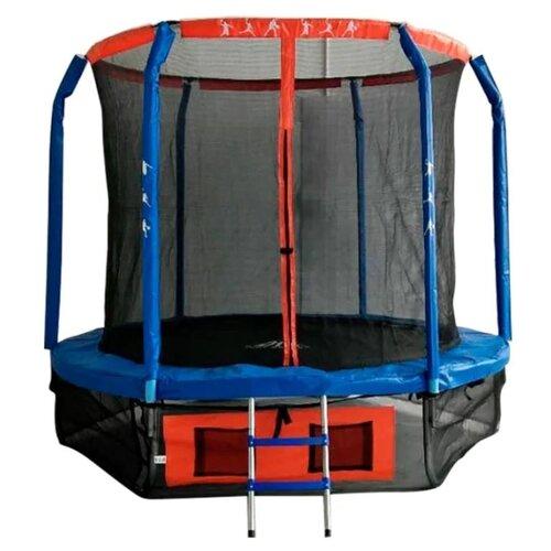 Каркасный батут DFC Jump Basket 10FT-JBSK-B 305х305х254 см синий/красный каркасный батут dfc jump sun 40inch js b 100х100х22 5 см синий