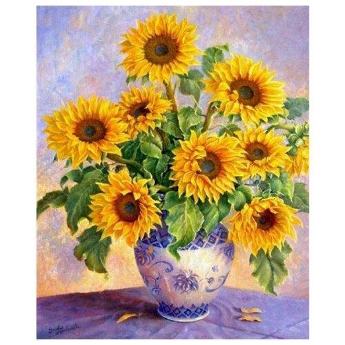 Купить Paintboy Картина по номерам Подсолнухи в вазе 40х50 см (GX7689), Картины по номерам и контурам