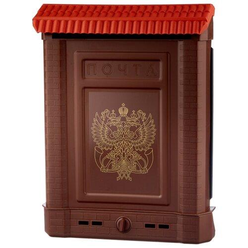 Почтовый ящик Цикл Премиум 6125-00 390х280 мм, коричневый