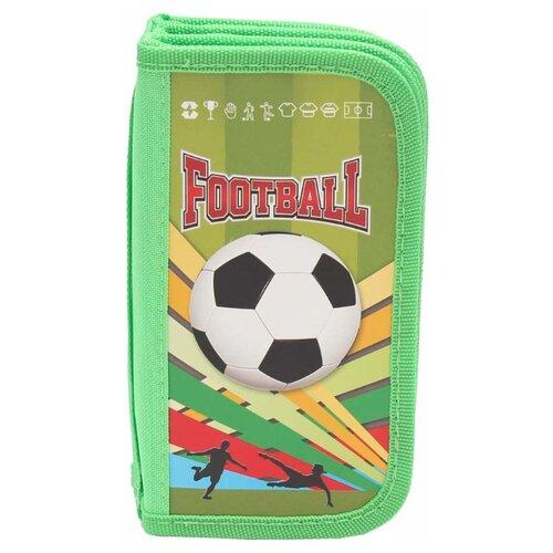 Проф-Пресс Пенал Яркий футбол-1 (ПН-5870) зеленый